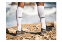 Paire de Chaussettes de compression Compressport Full Socks Run Blanc