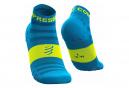 Paire de Chaussettes Compressport Pro Racing v3.0 Ultralight Run Low Bleu