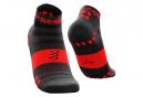Paire de Chaussettes Compressport Pro Racing v3.0 Ultralight Run Low Noir