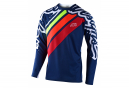 Maillot manches longues Troy Lee Designs Sprint Navy rouge