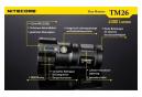 Lampe de poche LED Nitecore TM26 QuadRay 4 x CREE XM-L2 U3 4000 lumens Portée de 454 m