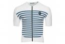 LeBram Ventoux Short Sleeve Jersey White Blue Slim Fit