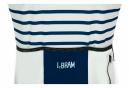 Maillot Manches Courtes LeBram Ventoux Blanc Bleu Coupe Ajustée