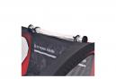 vidaXL Remorque à Enfant - Remorque de Vélo pour enfants rouge et noire 30 kg