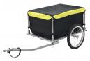 vidaXL Remorque à Enfant - Remorque de bicyclette Noir et jaune 65 kg