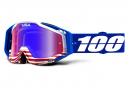 Masque 100% Racecraft Anthem Bleu / Ecran Miroir Rouge - Bleu