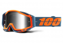 Masque 100% Racecraft Kilroy Bleu - Orange / Ecran Miroir Noir