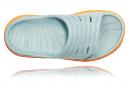 Paire de Chaussures de Récupération Femme Hoka Ora Recovery Slide Bleu Orange
