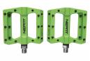 Paire de Pédales Plates Neatt Composite 8 Picots Vert