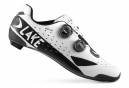 Chaussures Route Lake CX238-X Blanc/Noir Version Large