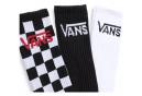 Chaussettes Vans Classic Crew Noir / Blanc / Checkerboard (3 paires)