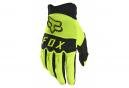 Pair of Long Fox Dirtpaw Gloves Neon Yellow