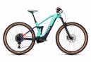 VTT Électrique Tout-Suspendu Cube Stereo Hybrid 140 HPC Race 625 Sram NX/SX Eagle 12V 625 Wh 29'' Bleu Turquoise Team 2021