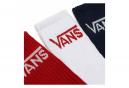 Chaussettes (3 Paires) Vans Classic Crew Rouge / Blanc / Bleu