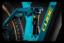 VTT Électrique Tout-Suspendu Cube Stereo Hybrid 140 HPC SL 625 Shimano XT 12V 625 Wh 29'' Bleu Petrol 2021