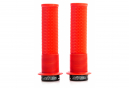 DMR DeathGrip Thin Grips with Flanges Red