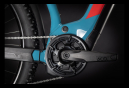 VTT Électrique Semi-Rigide Cube Reaction Hybrid Performance 625 Allroad Shimano Alivio 9V 625 Wh 29'' Bleu Rouge 2021