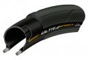 Continental Ultra Sport III 700 mm Cubierta de carretera Tubetype Wire PureGrip Compound E-Bike e25 Negro
