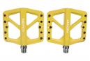 Paire de Pédales Plates Neatt Composite 5 Picots Jaune