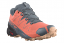 Chaussures de Trail Femme Salomon Speedcross 5 GTX Orange / Gris
