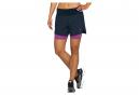 Pantalones cortos 2 en 1 Asics Road Run 5.5in para mujer azul rosa
