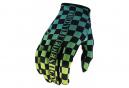 Gants Troy Lee Designs FLOWLINE CHECKERS Vert/Noir