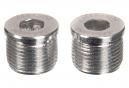 Neatt Attack V2 / Oxygen V2 Silver Pedal Axle Covers (x2)