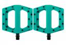 Paire de Pédales Plates DMR V11 Turquoise