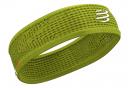 Bandeau Compressport Thin Headband On/Off Jaune Unisex