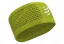 Bandeau Compressport Headband On/Off Jaune Unisex