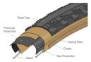 Teravail Washburn Neumático de grava de 700 mm Tubeless Ready Plegable Durable Bead-to-Bead Tan Sidewall