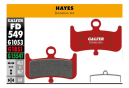 Coppia di pastiglie freno avanzate Galfer semimetalliche Hayes Dominion A4