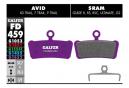 Paar halbmetallische Galfer-Bremsbeläge Avid X0 / Trail / 7 Trail / 9 Trail / Sram Guide R RS RSC Ultimate G2 E-Bike