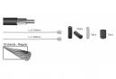 Elvedes Basic Cable Kit Cables de transmisión Plata
