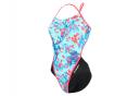 Michael Phelps Sakura Open Back Women's One-Piece Swimsuit Blue / Black