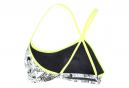 Michael Phelps Manga Racing Back / Black / Yellow Womens 2-Piece Swimsuit Top