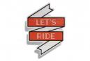 Mille adesivi riflettenti Let's Ride