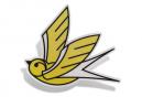 Mille fulmini uccello riflettente decalcomania