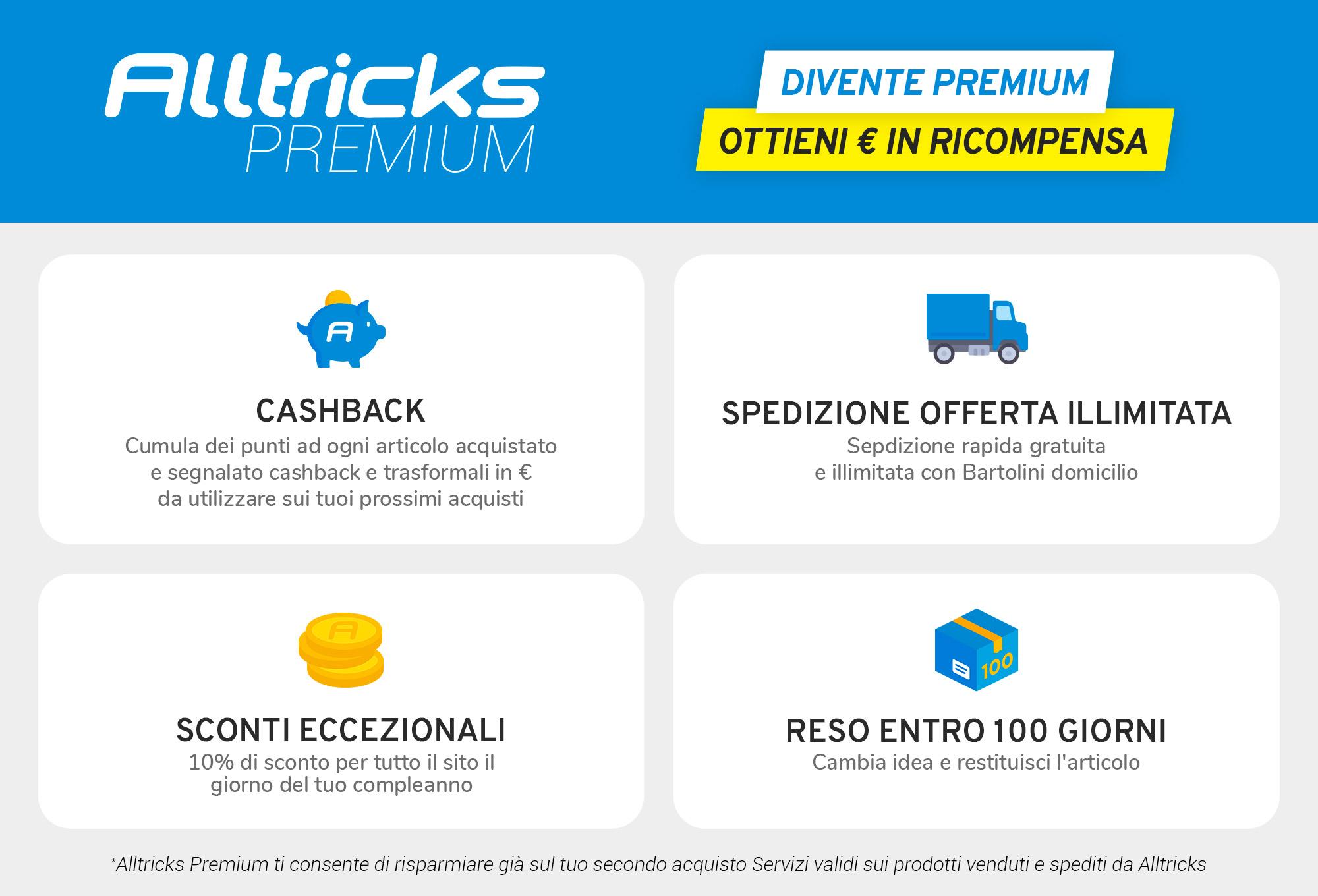 Offerta Alltricks Premium - Spedizione illimitata + Sconto Anniversario + Cagnotta Cashback