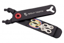 Wolf Tooth Pack Pliers - Master Link Combo Pliers Multi-Tool (4 Functions) Black Orange