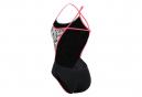 Michael Phelps Kokeshi Open Back Women's One-Piece Swimsuit Gray / Pink