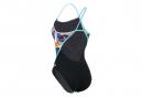 Michael Phelps Women's Trafic Racing Back / Blue / Multi 1-Piece Swimsuit