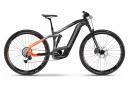 MTB Elettrica Full Suspension Haibike FullNine 10 Shimano SLX / XT 12S 625 Wh 29'' Nero Titan Grey Lava Orange 2021