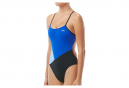 TYR solid splice block cutoutfit women's one-piece swimsuit Blue Black