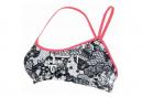 Michael Phelps Kokeshi 2 Women's Two-Piece Bikini Top Black / Pink