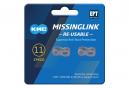 Enganche rápido KMC Missing Link 11R EPT KMC 11V Plata (x2)