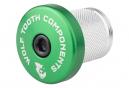 Tapón de Compresión Diente de Lobo con Tapa Espaciadora Integrada 1 1/8'' Verde