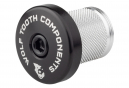 Wolf Tooth Compression Plug with Integrated Spacer Stem Cap 1 1/8'' Black