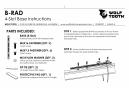 Support de Porte-Bidon Wolf Tooth B-RAD 4 Slot Noir