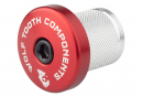 Wolf Tooth Compression Plug with Integrated Spacer Stem Cap 1 1/8'' Red